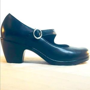 Dansko Womens Shoes Leather Heels Mary Jane